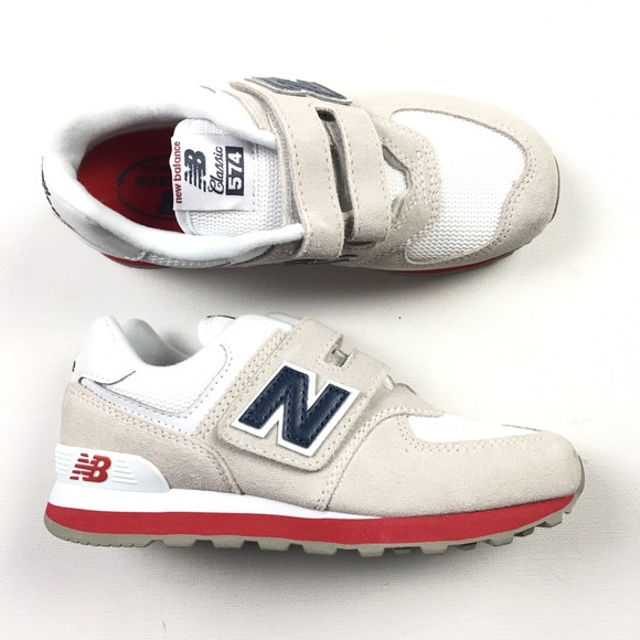 in stock 40e58 ea2dd New Balance 574 White Big Kids Youth Shoes 1 Z46